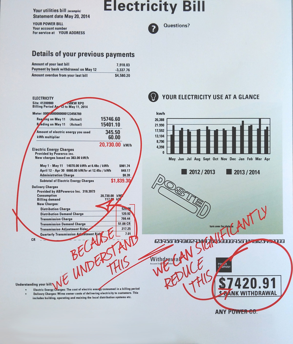 utility bill audit image